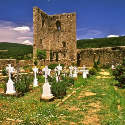 Castillo y cementerio